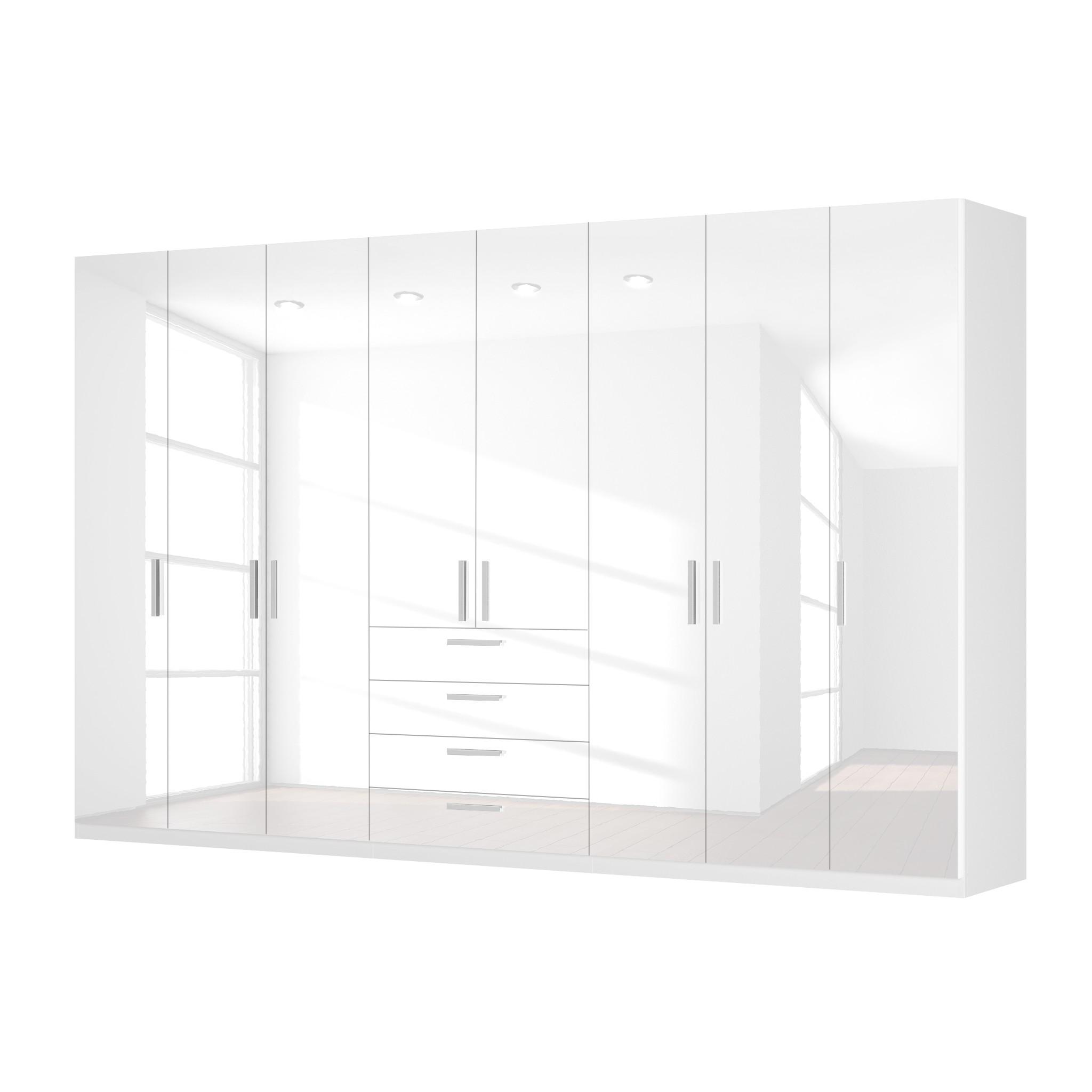 goedkoop Draaideurkast Skøp II hoogglans wit 360cm 8 deurs 222cm Premium Skop