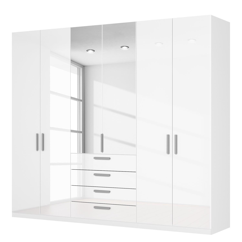 goedkoop Draaideurkast Skøp II hoogglans wit kristalspiegel 270cm 6 deurs 236cm Basic Skop