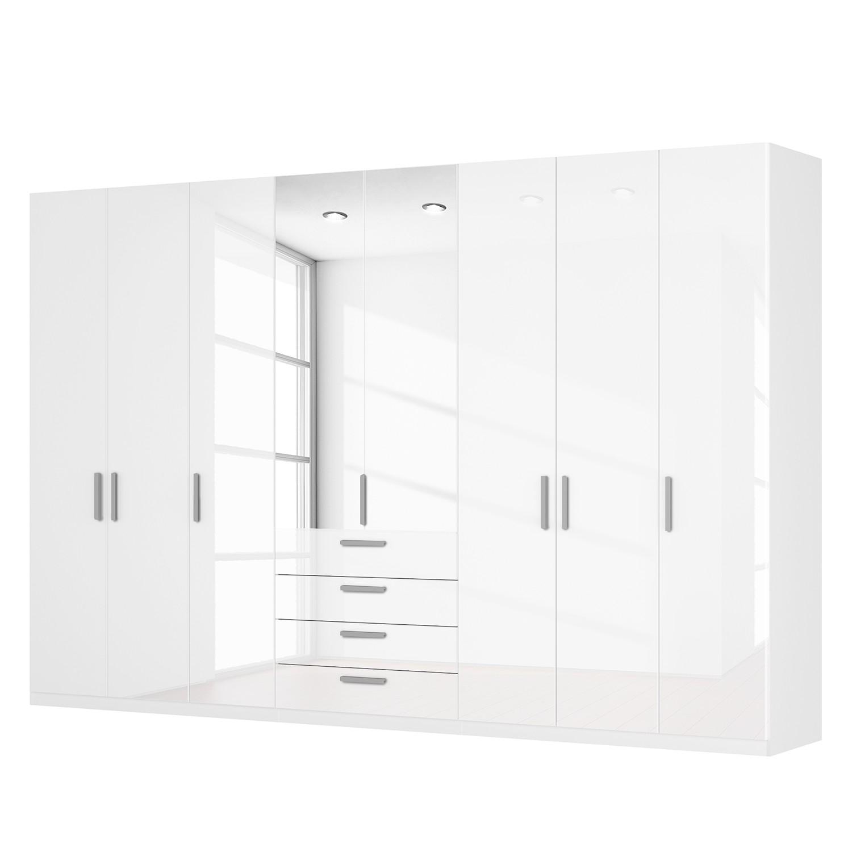 goedkoop Draaideurkast Skøp II hoogglans wit kristalspiegel 360cm 8 deurs 236cm Comfort Skop