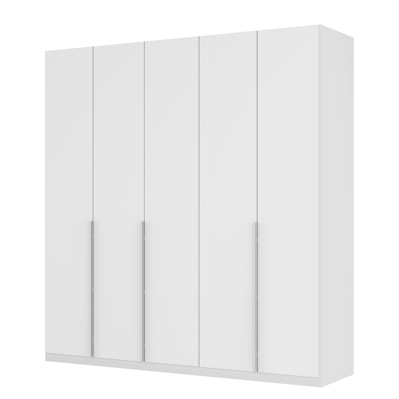goedkoop Draaideurkast Skøp II wit matglas 225cm 5 deurs 236cm Basic Skop