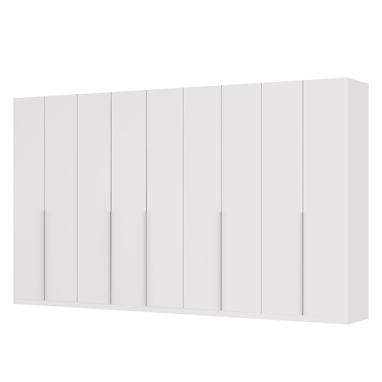 goedkoop Draaideurkast Skøp II wit matglas 405cm 9 deurs 236cm Basic Skop