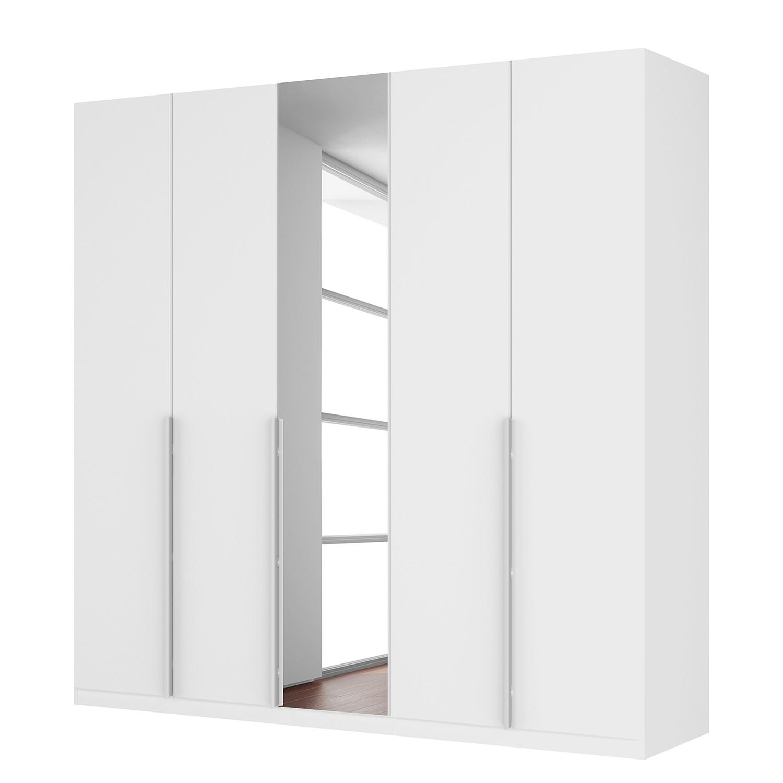 goedkoop Draaideurkast Skøp II hoogglans wit kristalspiegel 225cm 5 deurs 222cm Comfort Skop