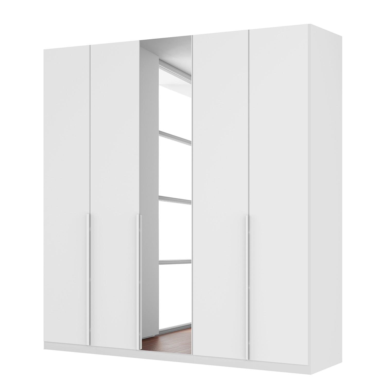 goedkoop Draaideurkast Skøp II hoogglans wit kristalspiegel 225cm 5 deurs 236cm Comfort Skop