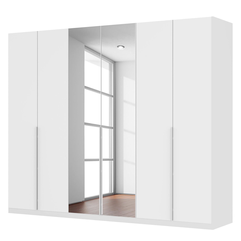 goedkoop Draaideurkast Skøp II hoogglans wit kristalspiegel 270cm 6 deurs 222cm Comfort Skop