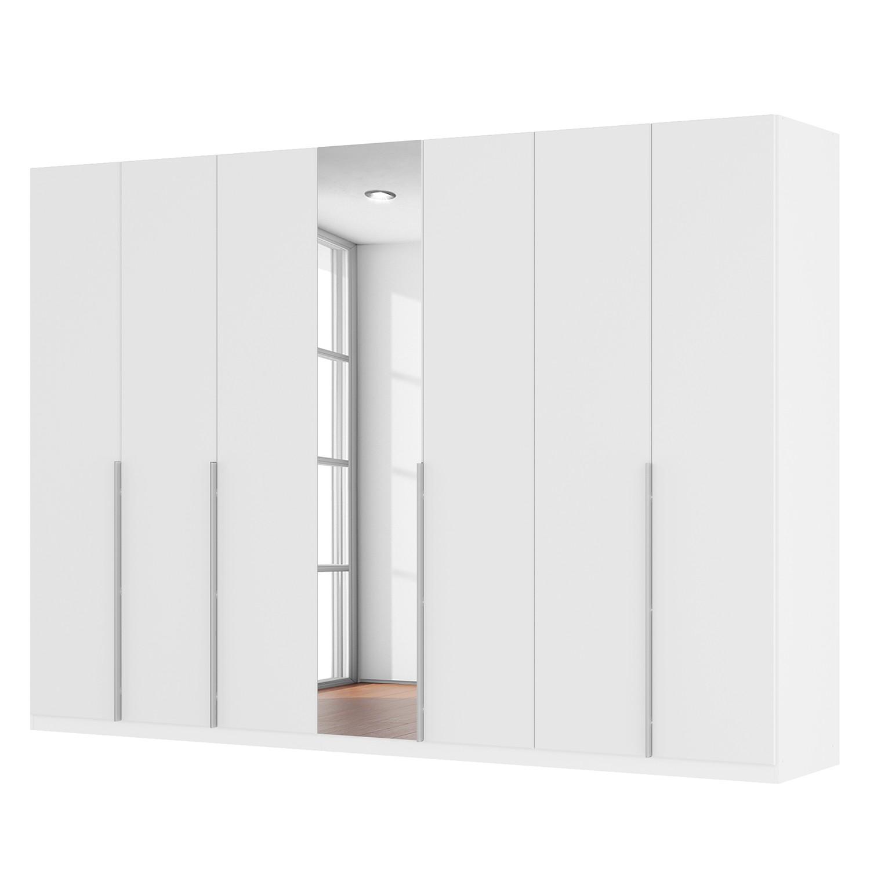 goedkoop Draaideurkast Skøp II hoogglans wit kristalspiegel 315cm 7 deurs 222cm Basic Skop