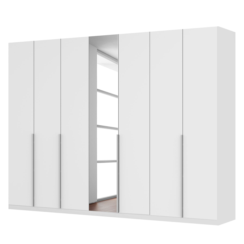 Drehtürenschrank SKØP II - Mattglas Weiß/ Kristallspiegel - 315 cm (7-türig) - 236 cm - Premium