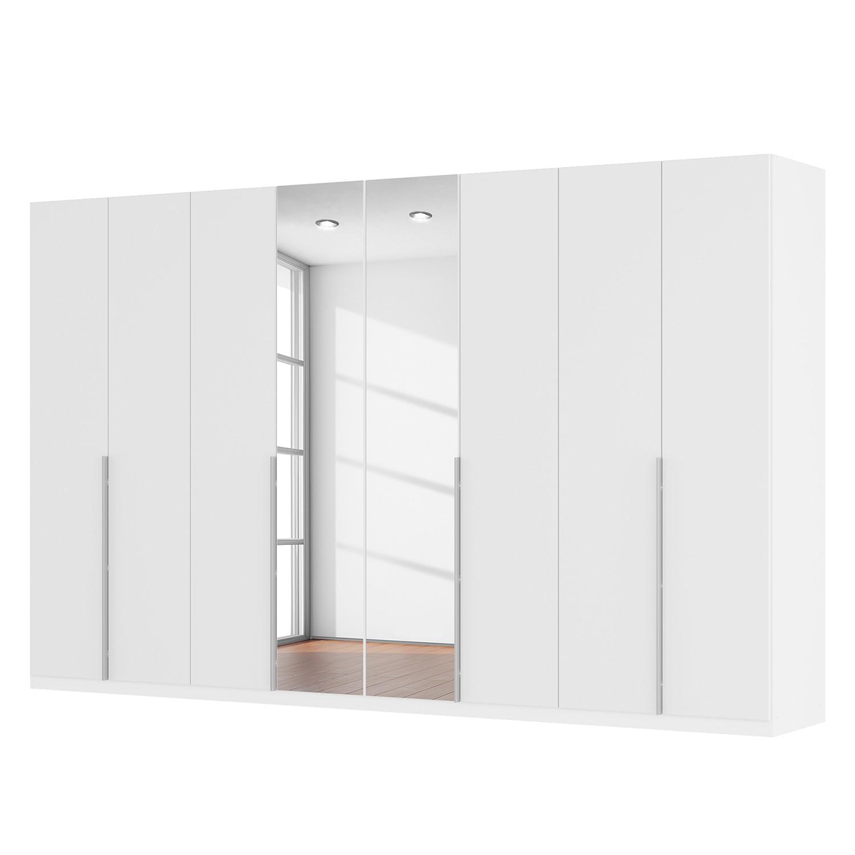 goedkoop Draaideurkast Skøp II hoogglans wit kristalspiegel 360cm 8 deurs 222cm Premium Skop
