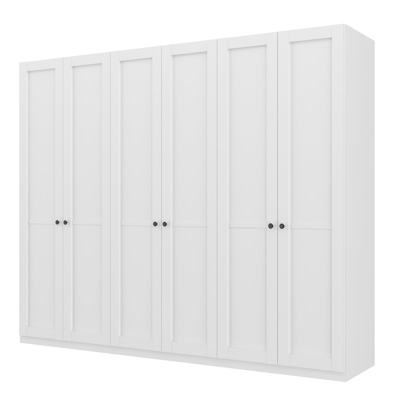 goedkoop Draaideurkast Skøp landelijk wit 270cm 6 deurs 222cm Basic Skop