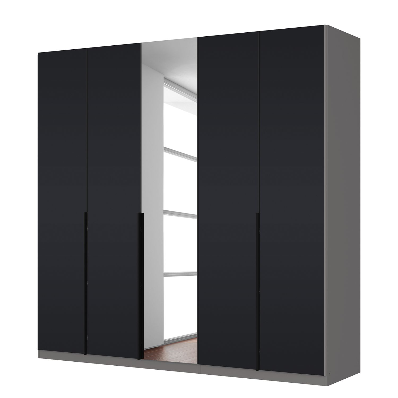 goedkoop Draaideurkast Skøp zwart matglas kristalspiegel 225cm 5 deurs 222cm Basic Skop