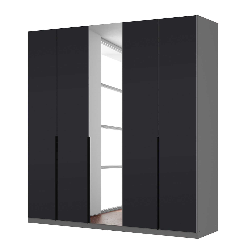 goedkoop Draaideurkast Skøp zwart matglas kristalspiegel 225cm 5 deurs 236cm Basic Skop