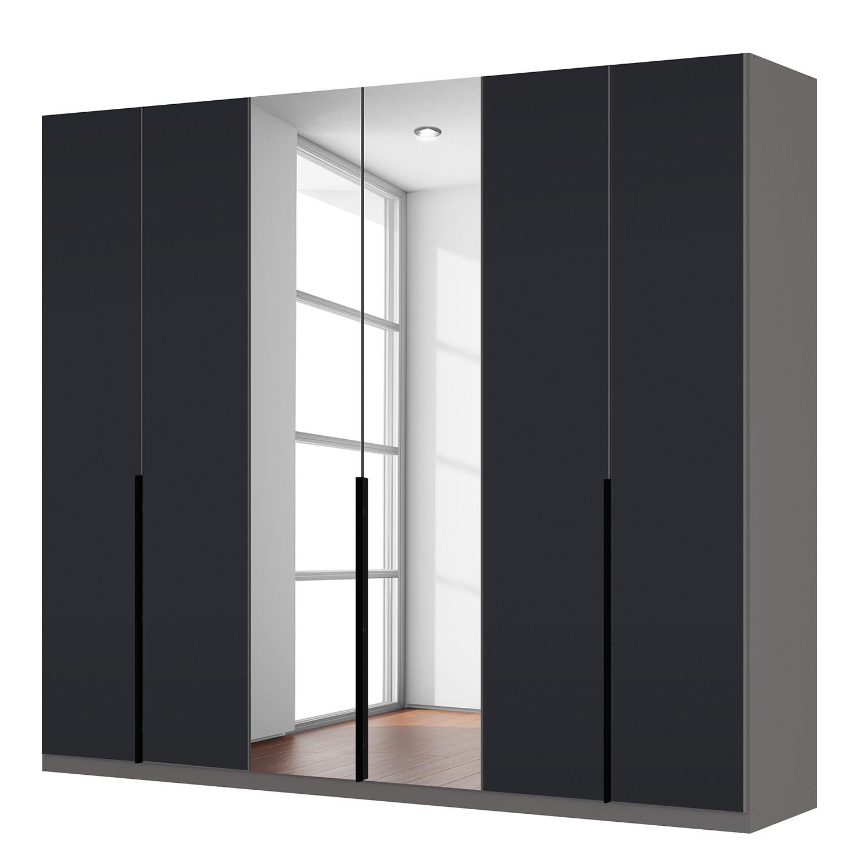 goedkoop Draaideurkast Skøp zwart matglas kristalspiegel 270cm 6 deurs 236cm Basic Skop