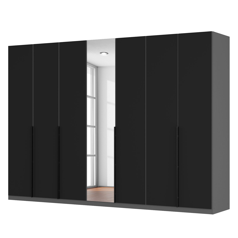 goedkoop Draaideurkast Skøp zwart matglas kristalspiegel 315cm 7 deurs 222cm Basic Skop