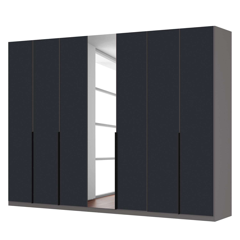 goedkoop Draaideurkast Skøp zwart matglas kristalspiegel 315cm 7 deurs 236cm Premium Skop