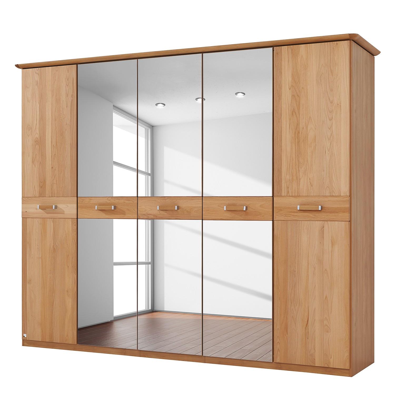 goedkoop Deels massieve draaideurkast Valerie elzenhout 235cm 5 deurs 197cm Met kroonlijst Rauch Steffen