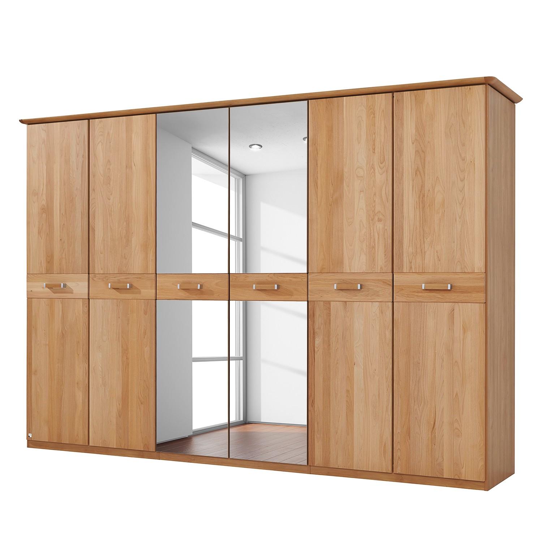 goedkoop Deels massieve draaideurkast Valerie elzenhout 282cm 6 deurs 214cm Met kroonlijst Rauch Steffen