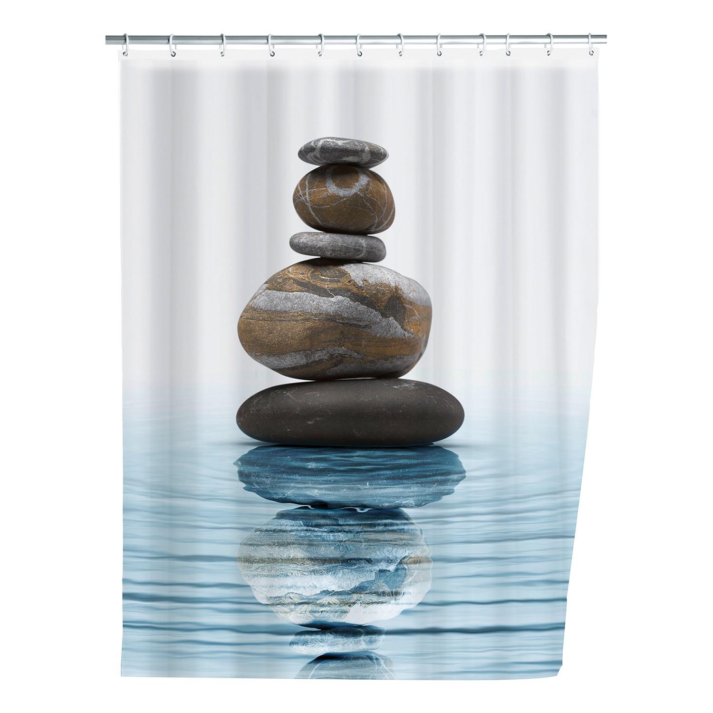 home24 Duschvorhang Meditation | Bad > Duschen | Blau | Textil | WENKO
