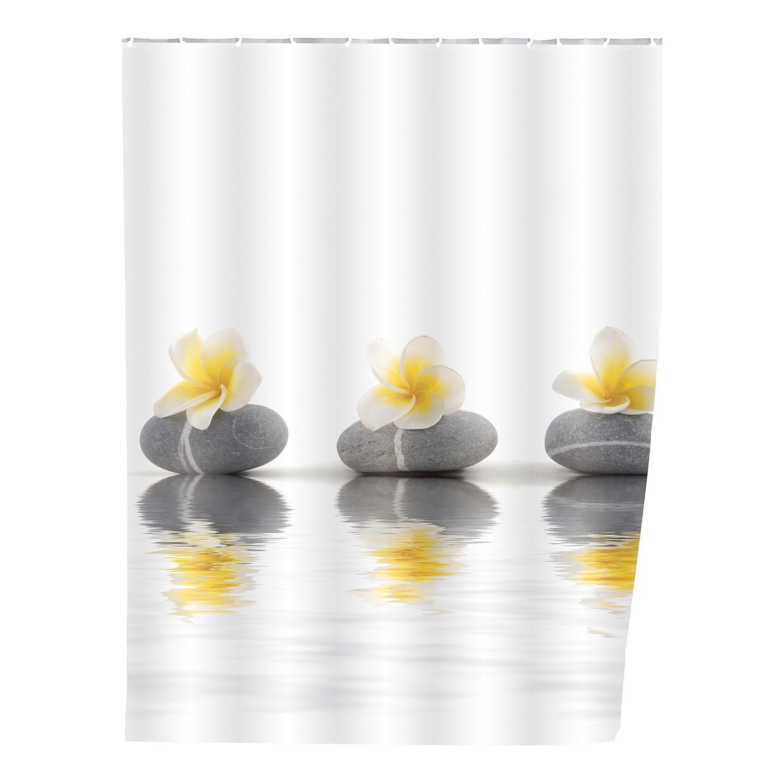 home24 Duschvorhang Stones Flower | Bad > Duschen > Duschvorhänge | Beige | Textil | WENKO