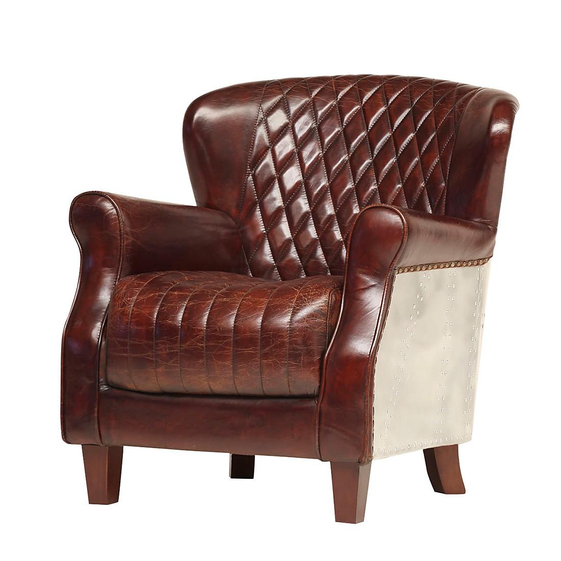 goedkoop Echt leren fauteuil Roubion bruin ars manufacti