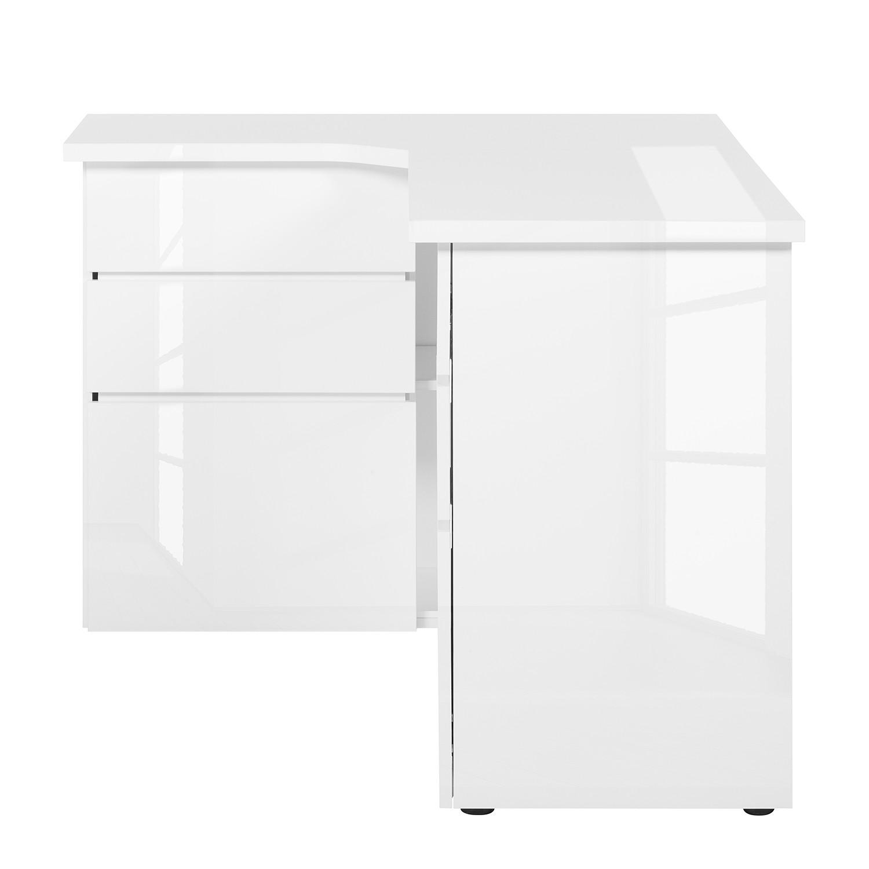 Eck sideboard modern  Eck-Schreibtisch Samiera - Weiß/Hochglanz Weiß   home24