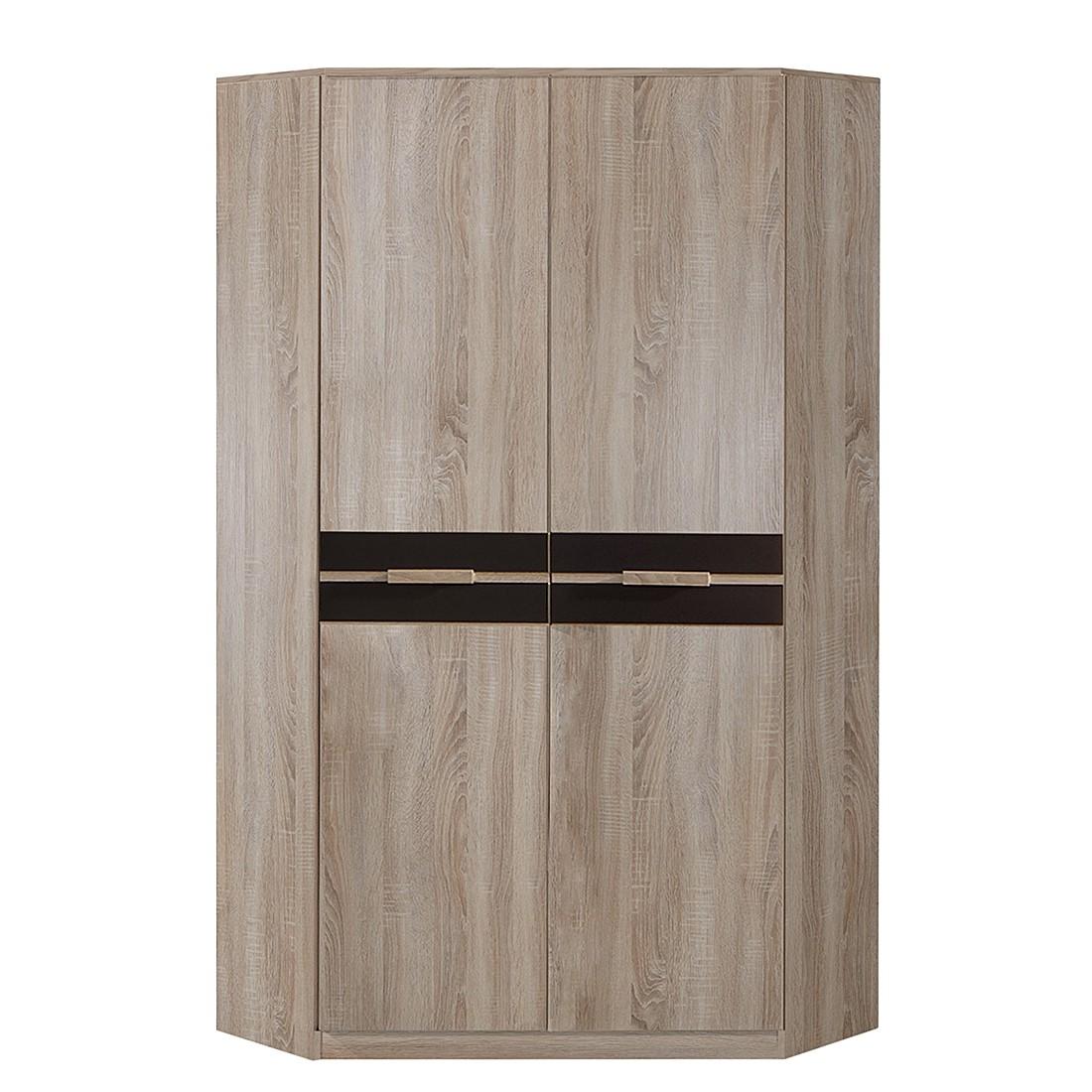 goedkoop Hoekkast Fame 2 deurs grof gezaagde eikenhouten look lavasteenkleurig Wimex