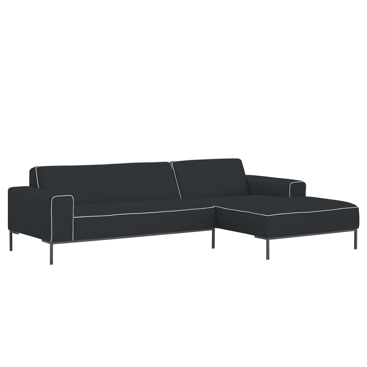home24 Ecksofa Ampio Duo I Webstoff
