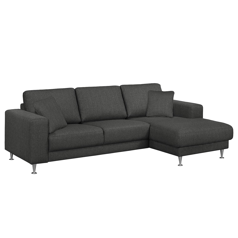 Fredriks Ecksofa Arietta II 2-Sitzer Anthrazit Strukturstoff 235x85x150 cm