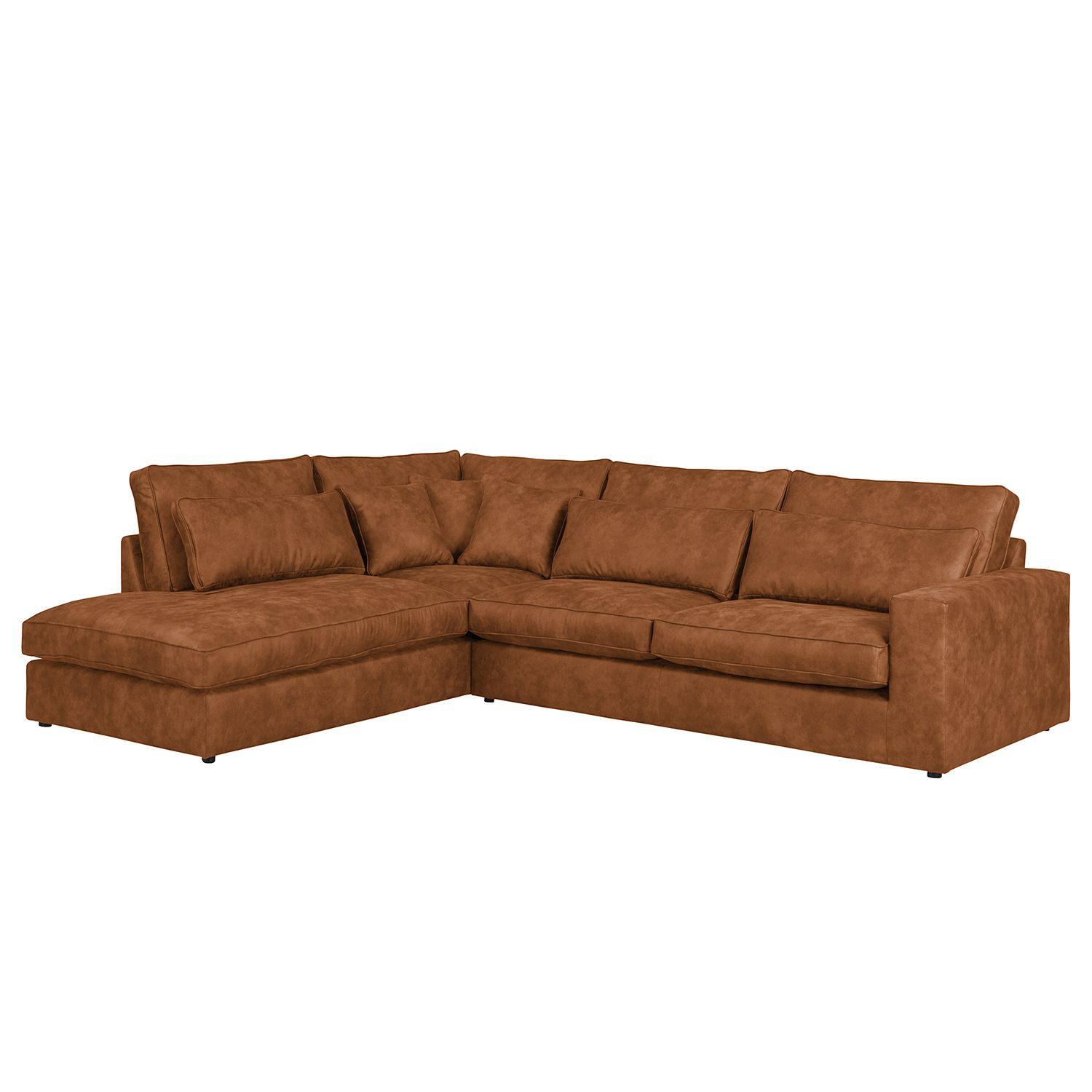 home24 Ecksofa Coolock Antiklederlook