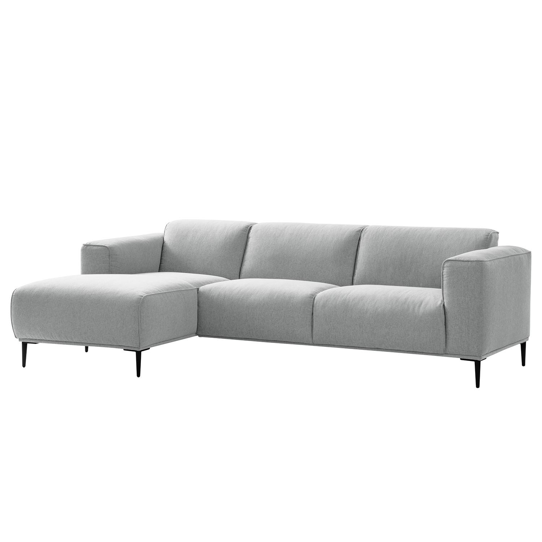 Canapé d'angle Crawford I - Tissu - Méridienne longue à gauche (vue de face) - 255 cm - Tissu Saia Gris clair, Studio Copenhagen