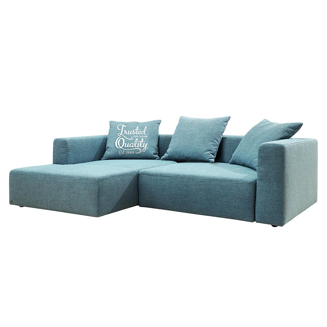 home24 Tom Tailor Ecksofa Heaven Casual Blau Webstoff 242x66x162 cm mit Schlaffunktion