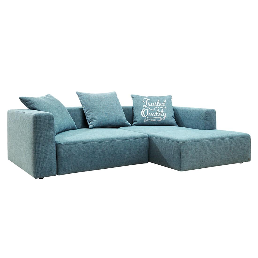 goedkoop Hoekbank Heaven Casual longchair vooraanzicht rechts Met slaapfunctie Stof TCU6 fresh blue Tom Tailor