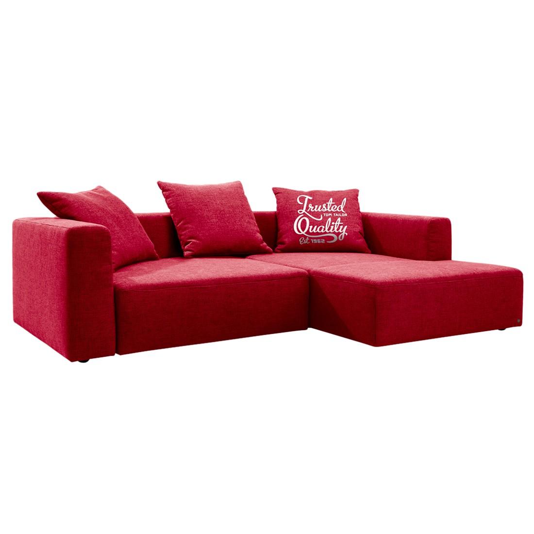 goedkoop Hoekbank Heaven Casual longchair vooraanzicht rechts Met slaapfunctie Stof TCU7 warm red Tom Tailor