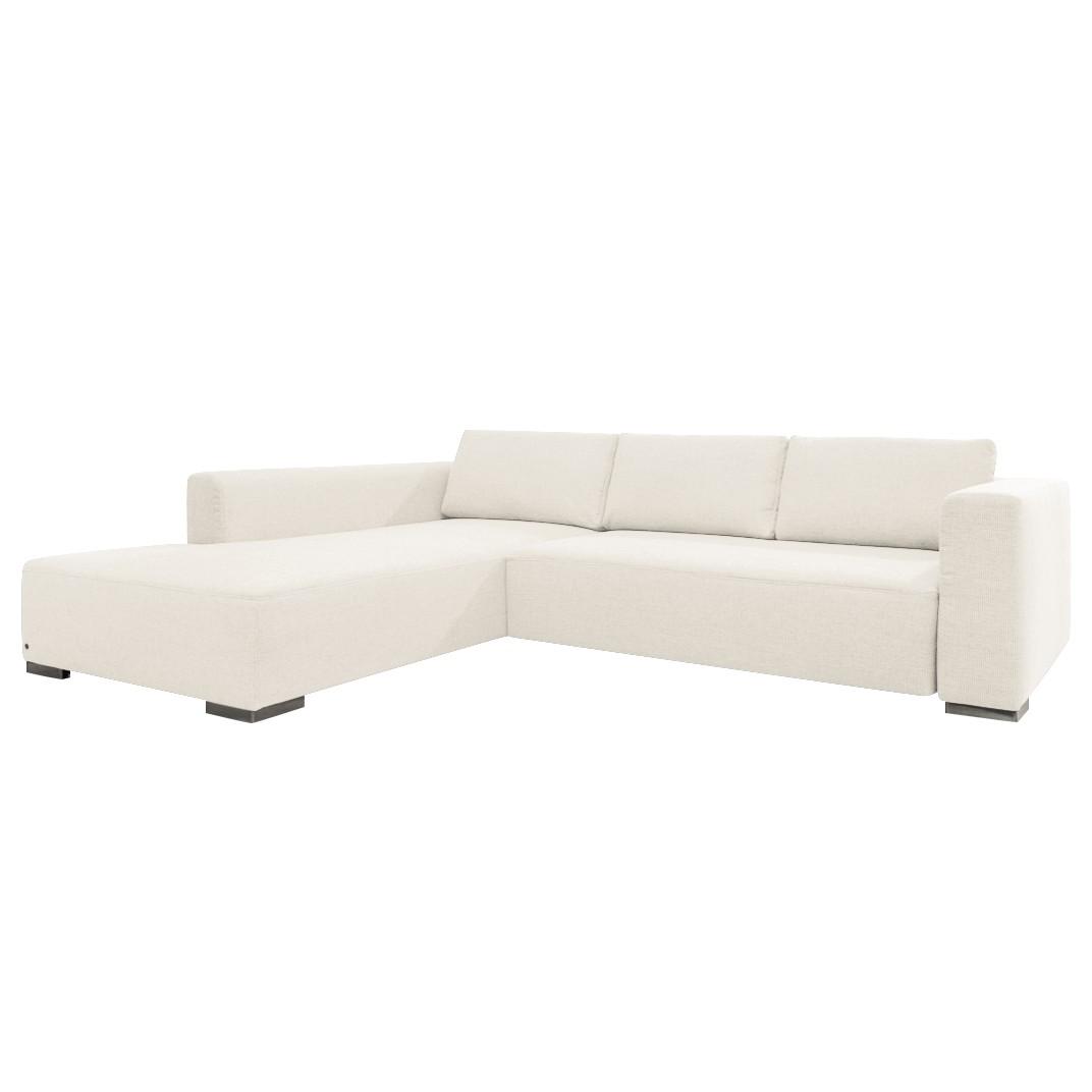 goedkoop Hoekbank Heaven Colors Style M geweven stof longchair vooraanzicht links Met slaapfunctie Stof TCU0 pure white Tom Tailor