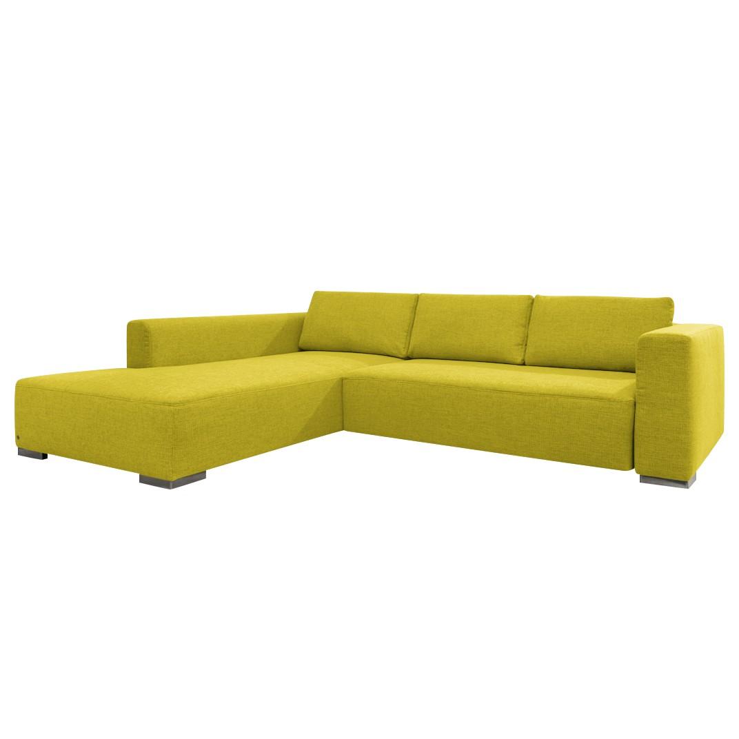 goedkoop Hoekbank Heaven Colors Style M geweven stof longchair vooraanzicht links Met slaapfunctie Stof TCU5 cool lemon Tom Tailor