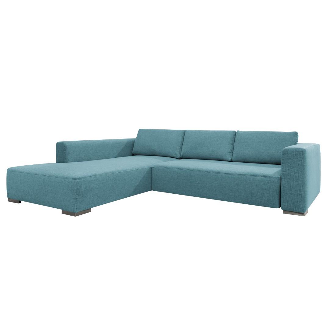 goedkoop Hoekbank Heaven Colors Style M geweven stof longchair vooraanzicht links Zonder slaapfunctie Stof TCU6 fresh blue Tom Tailor