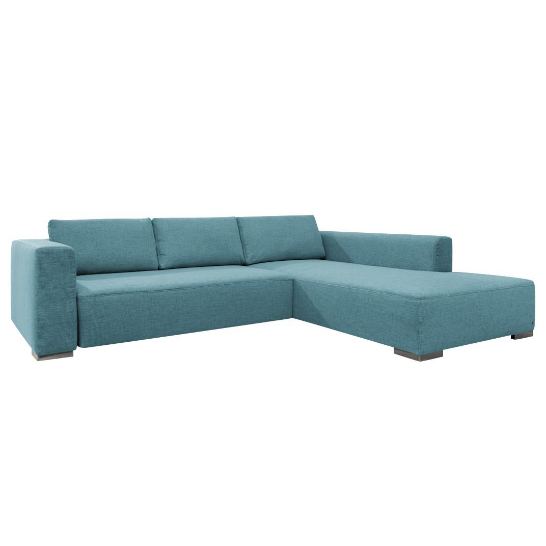 goedkoop Hoekbank Heaven Colors Style M geweven stof longchair vooraanzicht rechts Met slaapfunctie Stof TCU6 fresh blue Tom Tailor