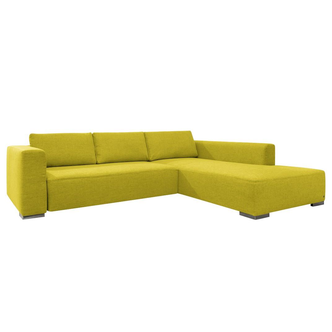 goedkoop Hoekbank Heaven Colors Style M geweven stof longchair vooraanzicht rechts Met slaapfunctie Stof TCU5 cool lemon Tom Tailor
