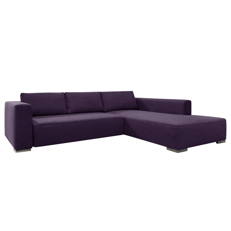 goedkoop Hoekbank Heaven Colors Style M geweven stof longchair vooraanzicht rechts Met slaapfunctie Stof TCU47 very purple Tom Tailor