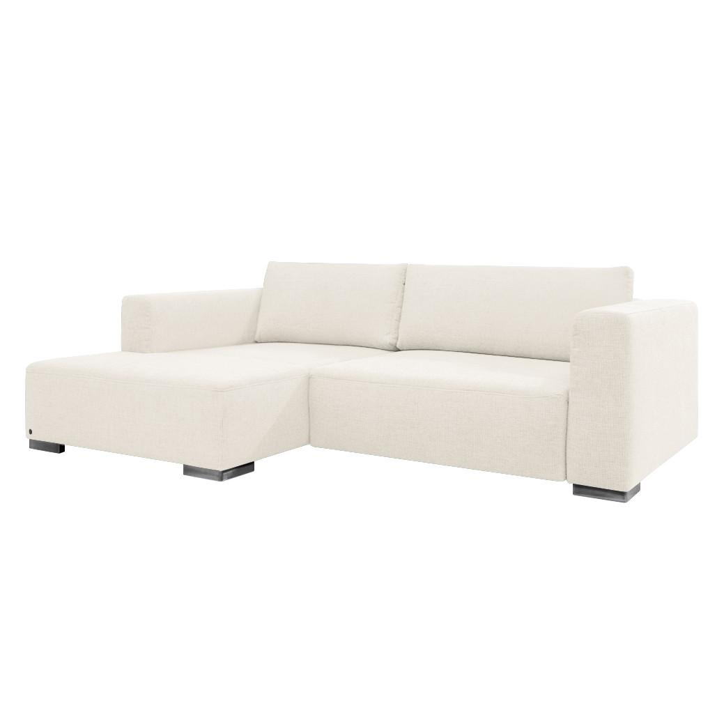 goedkoop Hoekbank Heaven Colors Style S geweven stof longchair vooraanzicht links Met slaapfunctie Stof TCU0 pure white Tom Tailor