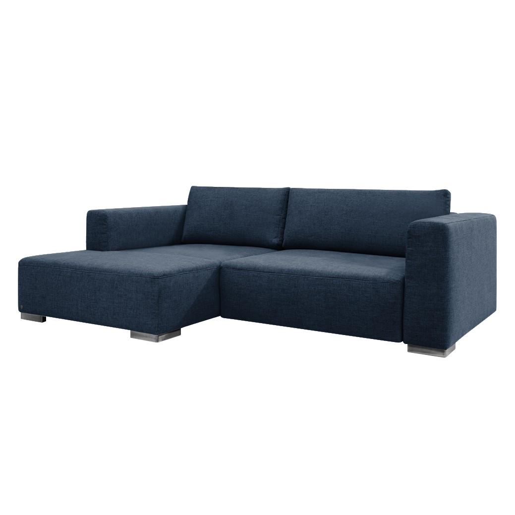 goedkoop Hoekbank Heaven Colors Style S geweven stof longchair vooraanzicht links Met slaapfunctie Stof TCU16 navy blue Tom Tailor