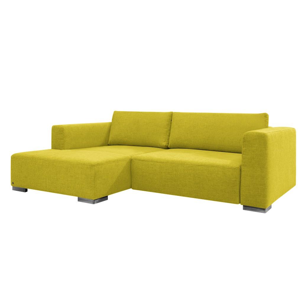 goedkoop Hoekbank Heaven Colors Style S geweven stof longchair vooraanzicht links Met slaapfunctie Stof TCU5 cool lemon Tom Tailor