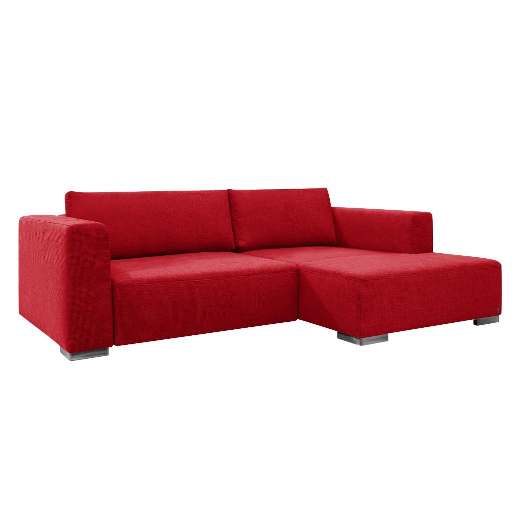 goedkoop Hoekbank Heaven Colors Style S geweven stof longchair vooraanzicht rechts Met slaapfunctie Stof TCU7 warm red Tom Tailor