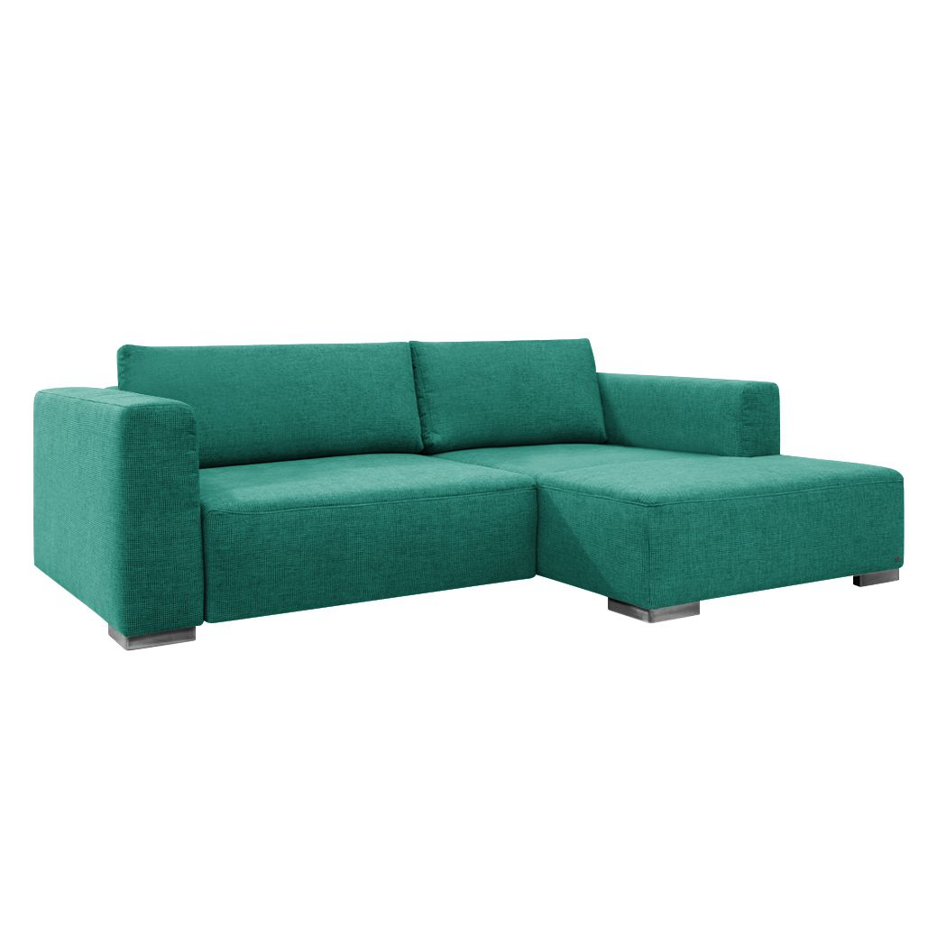 goedkoop Hoekbank Heaven Colors Style S geweven stof longchair vooraanzicht rechts Met slaapfunctie Stof TCU3 ocean blue Tom Tailor