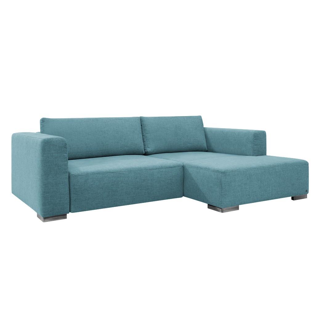 goedkoop Hoekbank Heaven Colors Style S geweven stof longchair vooraanzicht rechts Zonder slaapfunctie Stof TCU6 fresh blue Tom Tailor
