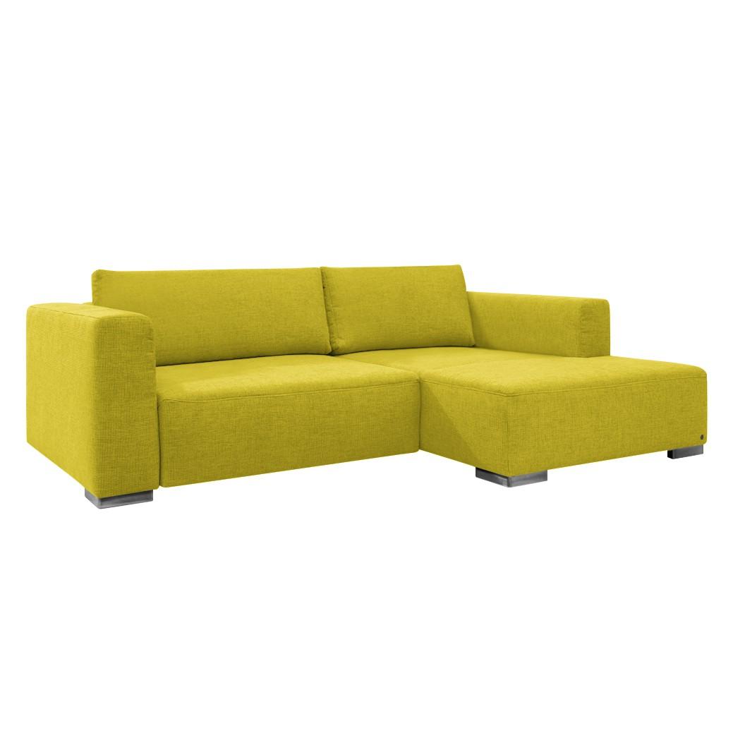 goedkoop Hoekbank Heaven Colors Style S geweven stof longchair vooraanzicht rechts Zonder slaapfunctie Stof TCU5 cool lemon Tom Tailor