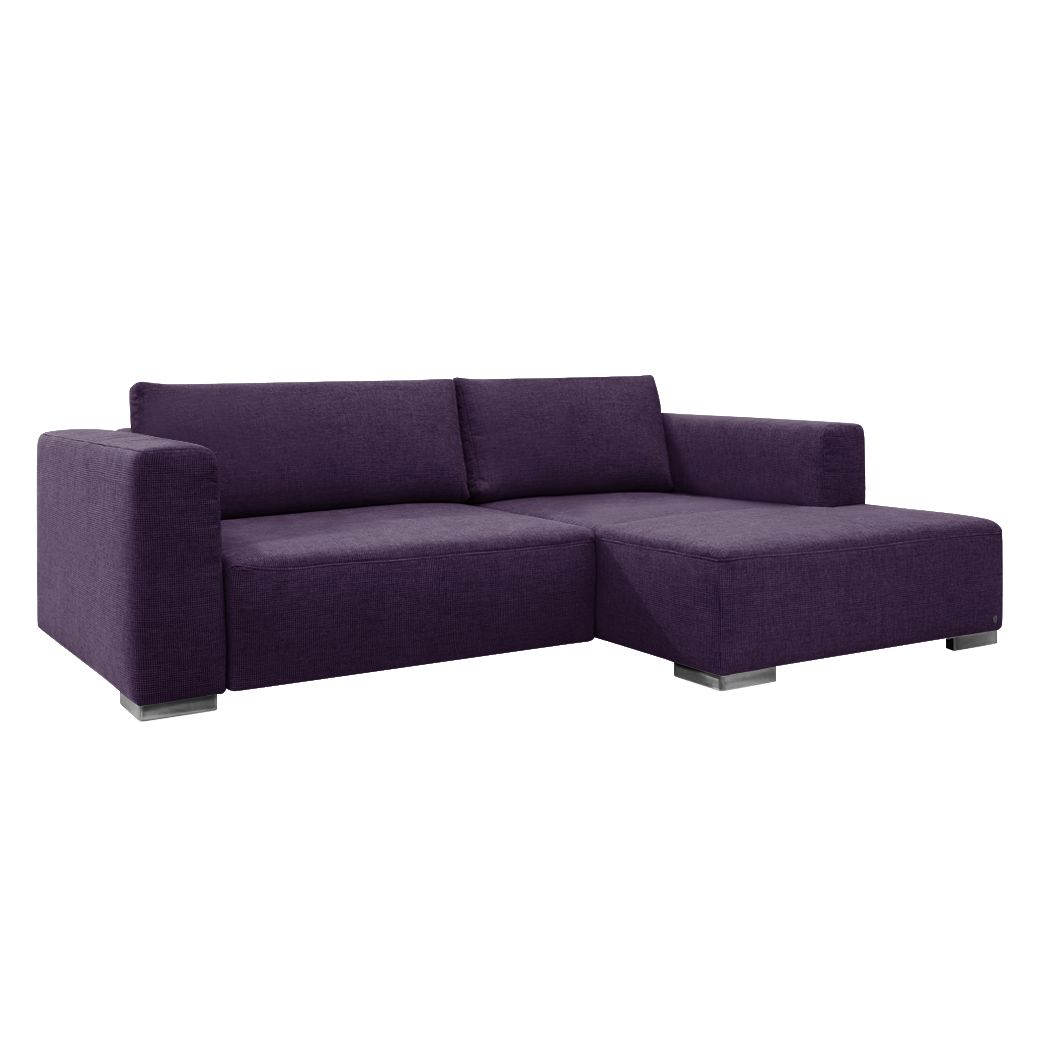 goedkoop Hoekbank Heaven Colors Style S geweven stof longchair vooraanzicht rechts Zonder slaapfunctie Stof TCU47 very purple Tom Tailor