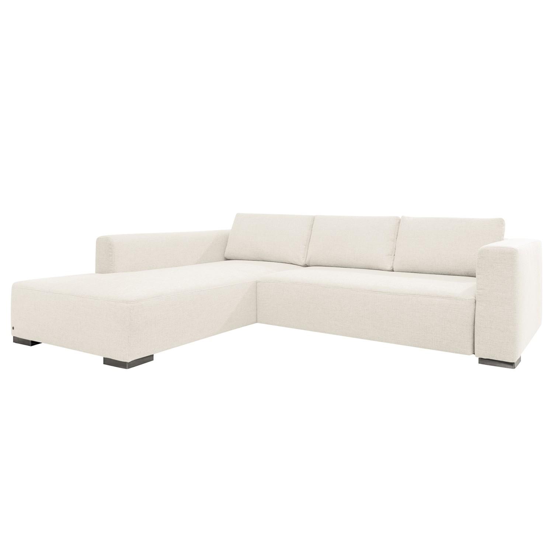 goedkoop Hoekbank Heaven Colors Style XL geweven stof longchair vooraanzicht links Met slaapfunctie Stof TCU0 pure white Tom Tailor