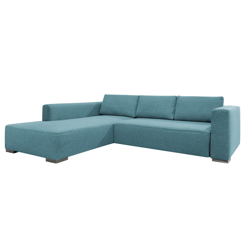 goedkoop Hoekbank Heaven Colors Style XL geweven stof longchair vooraanzicht links Met slaapfunctie Stof TCU6 fresh blue Tom Tailor