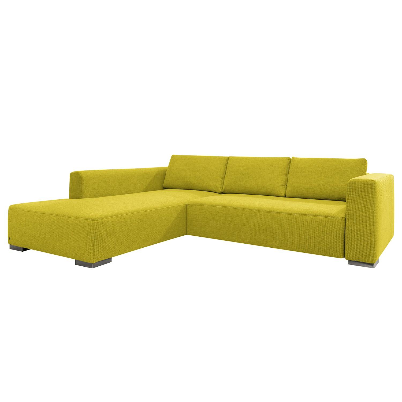 goedkoop Hoekbank Heaven Colors Style XL geweven stof longchair vooraanzicht links Zonder slaapfunctie Stof TCU5 cool lemon Tom Tailor