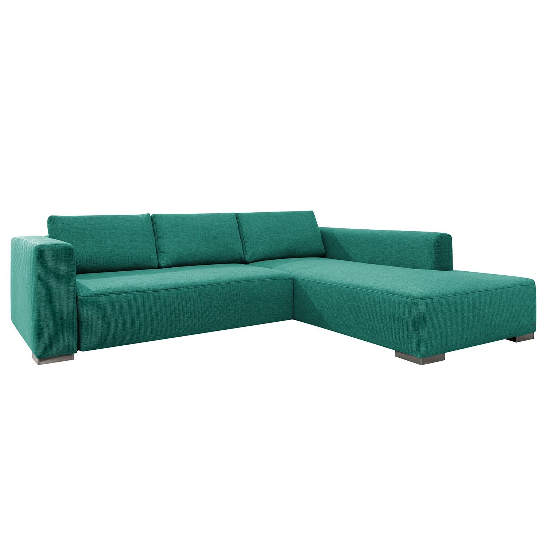goedkoop Hoekbank Heaven Colors Style XL geweven stof longchair vooraanzicht rechts Met slaapfunctie Stof TCU3 ocean blue Tom Tailor