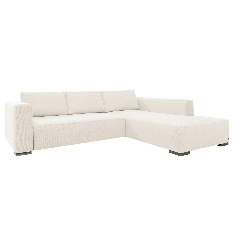 Canapé d'angle Heaven Colors Style XL - Tissu - Méridienne à droite (vue de face) - Sans fonction couchage - Tissu TCU0 pure white, Tom Tailor